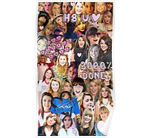Grace Helbig collage Poster