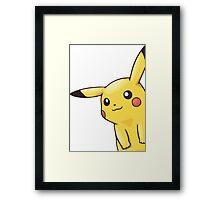eavesdropping pikachu  Framed Print