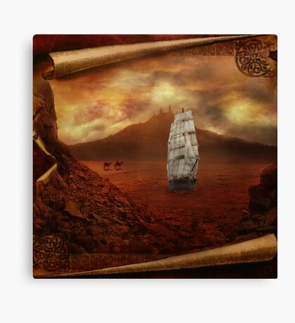 Ships in the Desert Canvas Print