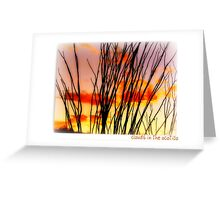 Clouds in the Ocotillo Greeting Card