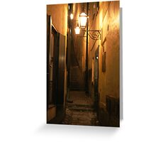 Street at Night Greeting Card