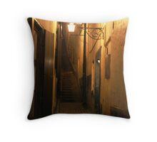 Street at Night Throw Pillow