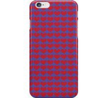 Red Love Hearts On Blue iPhone Case/Skin