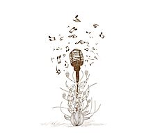 Beautiful doodle art microphone Photographic Print