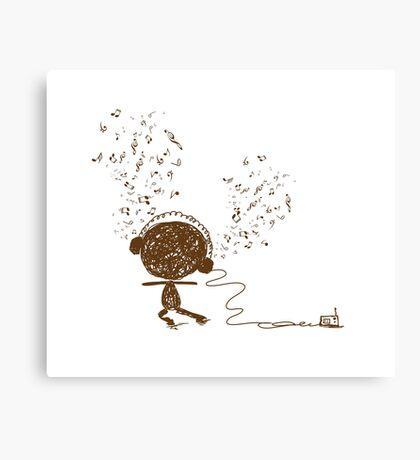 Music feeling Doodle Canvas Print