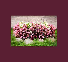pink Begonia semperflorens clumps Womens Fitted T-Shirt