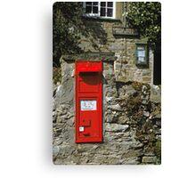 Post Box Castle Bolton N. Yorkshire, UK, 1980s. Canvas Print