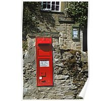 Post Box Castle Bolton N. Yorkshire, UK, 1980s. Poster