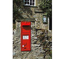 Post Box Castle Bolton N. Yorkshire, UK, 1980s. Photographic Print