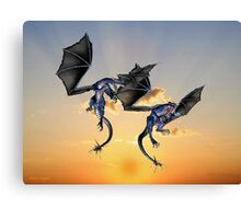 Dragons Battle for the Skies Canvas Print