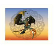 Warrior Dragon Art Print