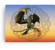 Warrior Dragon Canvas Print