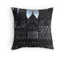 Lichfield Cathedral Outside Throw Pillow