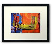 Crusty Painted Door Framed Print
