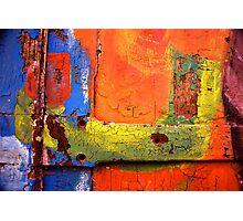Crusty Painted Door Photographic Print