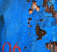 crunchy blue wall  by Etienne RUGGERI Artwork eRAW