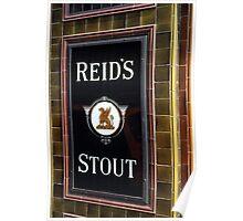 Reid's stout sign at Pub entrance, London, 1975, Poster
