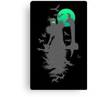 Fiddlesticks Crows Black Canvas Print