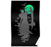 Fiddlesticks Crows Black Poster
