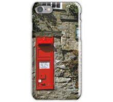 Post Box Castle Bolton N. Yorkshire, UK, 1980s. iPhone Case/Skin