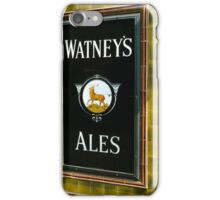 Watney's beer sign at Pub entrance, London, 1975, iPhone Case/Skin