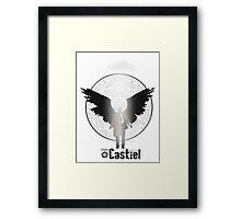 Team Supernatural: Castiel Framed Print