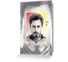 Robert Downey Jnr. miniature Greeting Card
