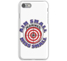 AIM SMALL MISS SMALL - MARINES iPhone Case/Skin