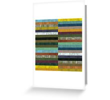 Wooden Abstract lX Greeting Card
