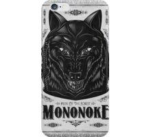 Prince Mononoke Black Wolf iPhone Case/Skin