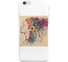 Flowers in Her Hair iPhone Case/Skin