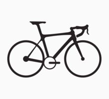 Bicycle, Racing Bike, Bevel, Road Bike, Black on White Kids Clothes