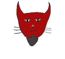 Evil Kitty Head Photographic Print
