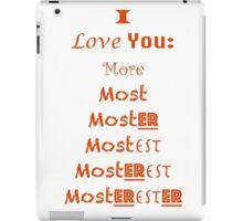 I Love You  iPad Case/Skin
