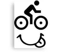 Bicycle Face Canvas Print