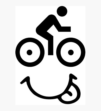 Bicycle Face Photographic Print