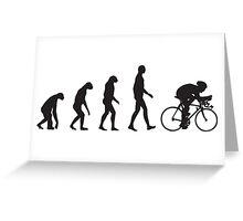 Evolution Cycling Greeting Card