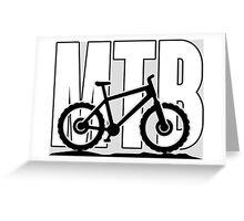 MTB - Mountainbike Greeting Card