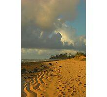 Tidal Sand Formations, Kauai Photographic Print