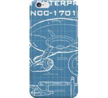 U.S.S. Enterprise Blueprints iPhone Case/Skin