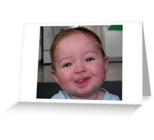 Baby Face Greeting Card