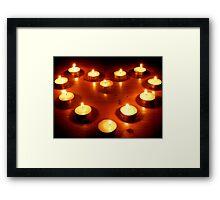 Loving Flame Framed Print
