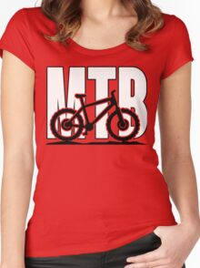 MTB - Mountainbike Women's Fitted Scoop T-Shirt