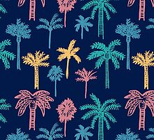 Tropical Palm Tree Pattern by sale