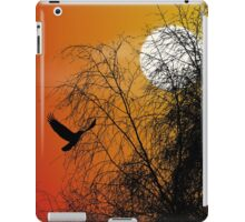 Bird Silhouette, Photoshop gradient, Brereton Country Park iPad Case/Skin