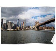 Manhattan and Brooklyn's Bridge Poster