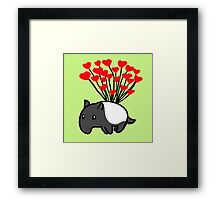 Tapir Love Framed Print