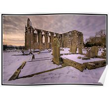 Bolton Abbey in the snow Poster