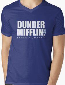 Dunder Mifflin The Office Logo Mens V-Neck T-Shirt