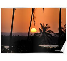 SUNSET AT BARBABALAZA CROSSING - Mozambique Poster